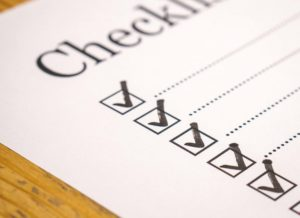 Move in checklist.