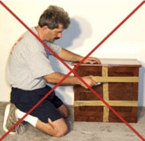 No tapping of furniture to prevent damage.
