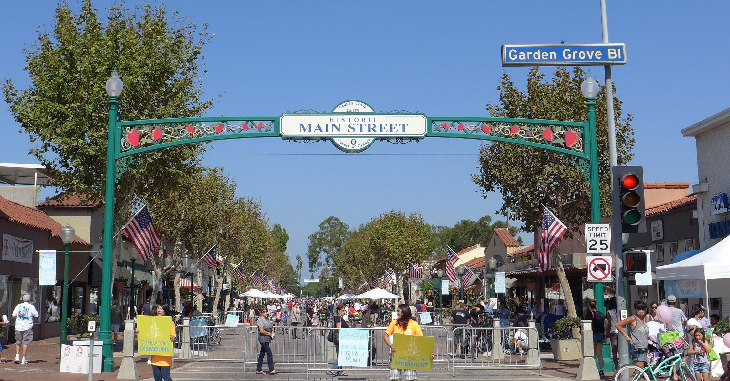 You will  have a great time walking by Garden Grove streets.