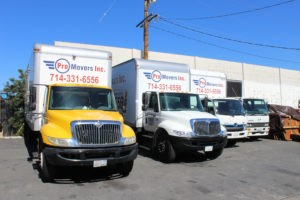La Palma Moving Company with 12 trucks in the park is ready for any type of move.