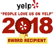 People love us on Yelp! We've got Yelp Award in 2016, 2017 and 2018.