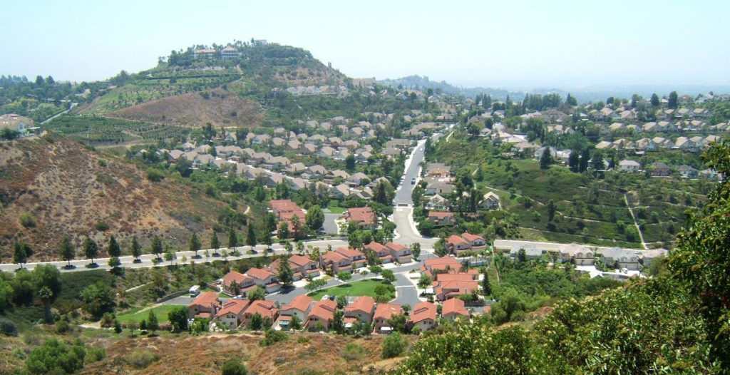 Beautiful view of Orange Hills in California.