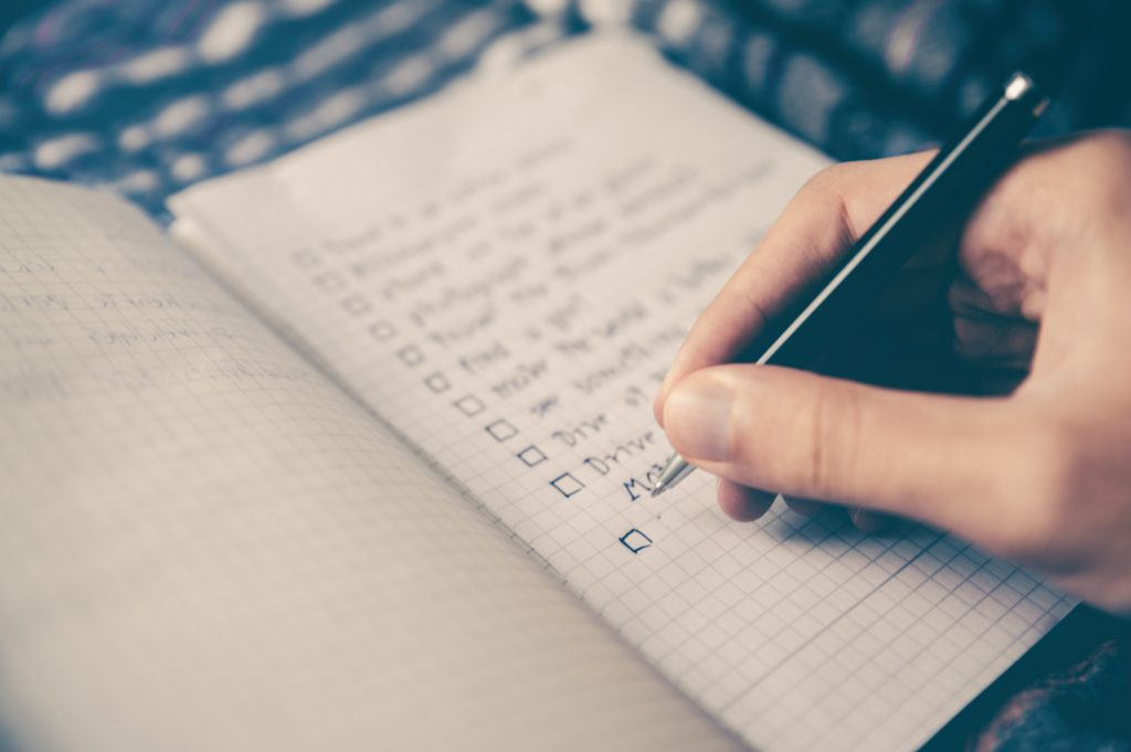 Create a moving checklist for yourself.